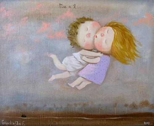 нарисованные картинки мама и дочка